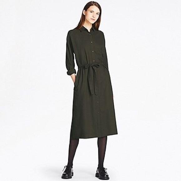 088e51225 Uniqlo Dresses | Flannel Longsleeve Shirt Dress | Poshmark
